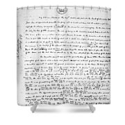 Madison To Jefferson, 1787 Shower Curtain