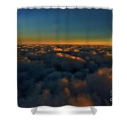 Madison Wi Sunset At 30000 Shower Curtain