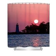 Madisonville Lighthouse Shower Curtain