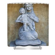 Madonna And Child Carmel Mission Monterey California Shower Curtain