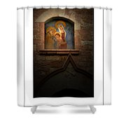 Madonna And Child Poster Shower Curtain