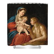 Madonna And Child With Mary Magdalene  Shower Curtain
