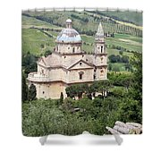 Madonna Di San Biagio Shower Curtain