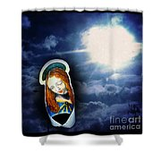 Madonna Lightens The Earth Shower Curtain