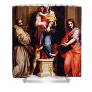 Madonna Of The Harpies Shower Curtain