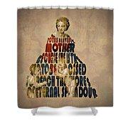 Madonna Typography Artwork Shower Curtain