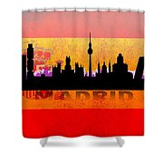 Madrid City Shower Curtain