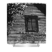 Madrid Union Sunday School Ghost Town Madrid New Mexico 1968-2008 Shower Curtain