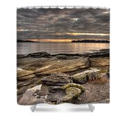 Madrona Point Shower Curtain by Randy Hall