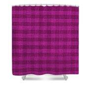 Magenta Checkered Pattern Cloth Background Shower Curtain