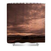 Magenta Clouds Shower Curtain