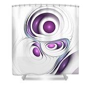 Magenta Creation Shower Curtain