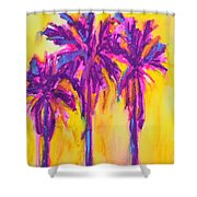 Magenta Palm Trees Shower Curtain