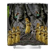 Magic As The Tree People Celebrate Health Shower Curtain