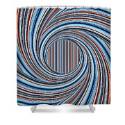 Magic Colorful Abstract Twisted Background Shower Curtain