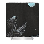 Magic Crow Feather Shower Curtain