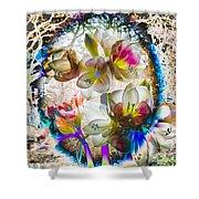 Magic Flowering Shower Curtain