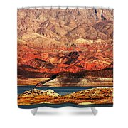 Magic Hour At Lake Mead  Shower Curtain