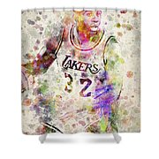 Magic Johnson Shower Curtain by Aged Pixel