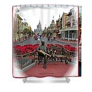Magic Kingdom Walt Disney World 3 Panel Composite Shower Curtain
