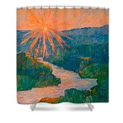 Magic Light At Carvins Cove Shower Curtain
