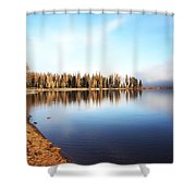 Magic On Seeley Lake Shower Curtain