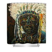 Magic Powers,  Native American Indian Chief Shower Curtain