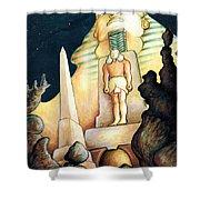 Magic Vegas Sphinx - Fantasy Art Shower Curtain