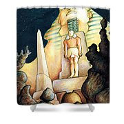 Magic Vegas Sphinx - Fantasy Art Shower Curtain