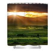 Magic Valley Shower Curtain
