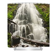 Magical Falls - Fairy Falls In The Columbia River Gorge Area Of Oregon Shower Curtain