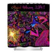 Magical Halloween 2014 V4 Shower Curtain