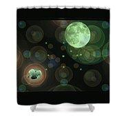 Magical Moonlight Clover Shower Curtain