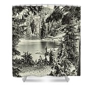 Magical Morning - Bw Shower Curtain