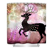 Magical Reindeers Shower Curtain