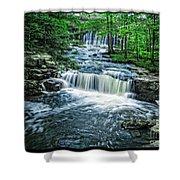 Magical Waterfall Stream Shower Curtain