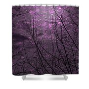Magically Violet Night Sky Shower Curtain