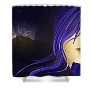 Magican Shower Curtain by Sandra Hoefer