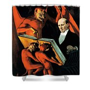 Magician Harry Kellar And Demons  Shower Curtain