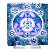 Magnetic Fluid Harmony Banner Shower Curtain