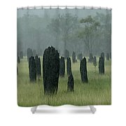 Magnetic Termite Mounds Shower Curtain