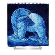 Polar Bear Art Blue Prince Lord Of The North Shower Curtain