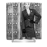 Magnificent Obsession Bw Palm Springs Shower Curtain by William Dey