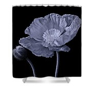 Magnificent Simplicity Cyan Shower Curtain