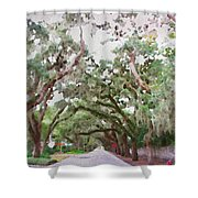 Magnolia Avenue Shower Curtain