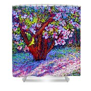 Magnolia Melody Shower Curtain by Jane Small