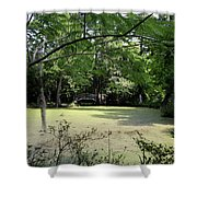 Magnolia Plantation Bridge Shower Curtain