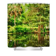 Magnolia Plantation Gardens Shower Curtain