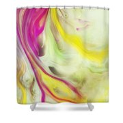 Magnolia Watercolor Abstraction Painting Shower Curtain