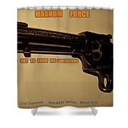Magnum Force Custom Shower Curtain by Movie Poster Prints